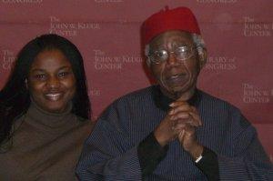 Chika Ezeanya and Professor Chinua Achebe