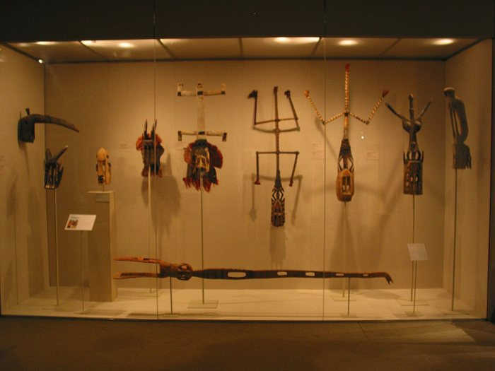 African art on display in the Metropolitan Museum of Art, New York.